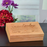 Keepsake box engraved with the mother's love poem personalized