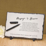 Message to Heaven Personalized Memorial  Plaque