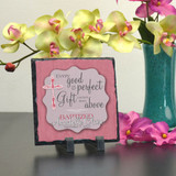Gift From Above Pink Personalized Plaque
