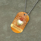 Mother's Heart of Gold Dog Tag