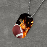 Feel the Fire Football Dog Tag