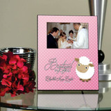 Baptized in Christ Personalized Pink Picture Frame
