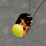 Feel the Fire Tennis Dog Tag