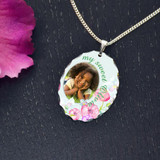 Watercolors Keepsake Photo Pendant