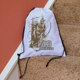 Retro Baseball Drawstring Bag