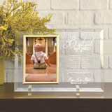 Baptized In Christ Glass Picture Frame