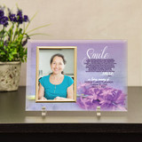 Personalized sympathy frame with the smile poem