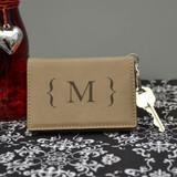 Modern Monogram Light Brown Key Chain Wallet