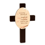 Morning Light Personalized Sympathy Cross