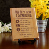 Bread of Life Personalized Alder Wood Plaque