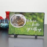 Hardest Goodbye to Memorial Pet Plaque