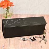 True Love Personalized Wine box shown in Black