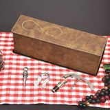 True Love Personalized Wine box shown in Brown