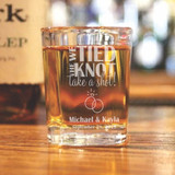 We Tied the Knot Personalized Shot Glass