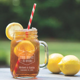 The Hunt is Over Mason Jar Glass