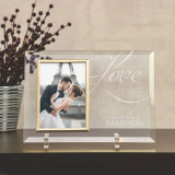 Love Never Fails Personalized Wedding Frame