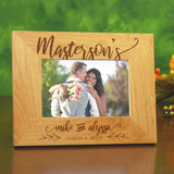 Happy Couple Personalized Wood Frame