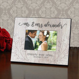 Mr. & Mrs. Personalized Rustic Wedding Frame
