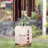 Personalize your memorial wind chime for loss of father
