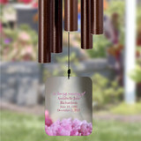 personalize the sail of this memorial wind chime for loss of sister