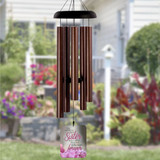 Memorial wind chimes for loss of sister