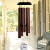 Personalized memorial wind chimes for loss of brother
