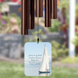 Personalize your memorial wind chime