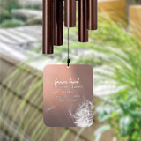 Personalize this memorial wind chime