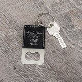 Thank You Keychain Personalized Bottle Opener Wedding Favor
