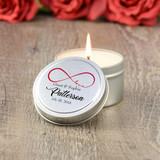 Infinite Love Wedding Favor Candle