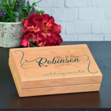 Beautiful wedding memory box to hold small mementos.
