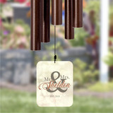 Personalized wind chime for the bride and groom