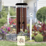 Personalized wind chimes as wedding gift