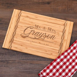 Mr & Mrs Personalized cutting board is a practical wedding gift