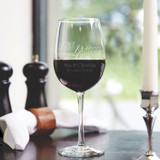 Love Laughter Personalized Wedding Wine Glass
