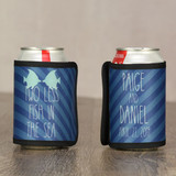 Personalized Wedding Can Coolies