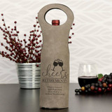 Cheers to Retirement Wine Gift Bag Grey