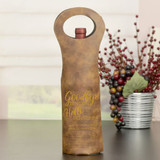 Hello Pension Retirement Wine Bag Brown