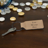 Your Message Keychain Dark Brown
