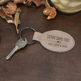 Drive Safe Dad  Key Chain Shown Light Brown