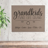 Personalized Wall Canvas for Grandparents