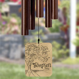 Personalize this wind chime with family last name