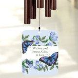 Personalize wind chime for grandma with a short message.