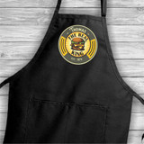 The Real King of the Burger personalized apron has his name and birth year.