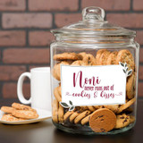 Personalized cookie jar has the name or nickname you call your grandmother