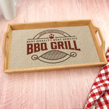 This personlized serving tray has the grill master's name and is the perfect way to bring all your burgers to the grill!