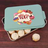 Personalized Cake pan with owern's name ensures that she'll never lose it again!