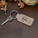 #1 Dad Personalized Keychain has short message