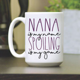 15 oz coffee mug is personalized with your favorite name to call your grandma