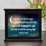 Personalized light box with child's prayer makes perfect night light.